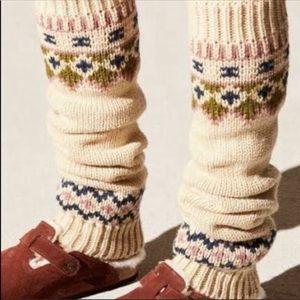 Free people fair isle leg warmers nwt 🌟🌟
